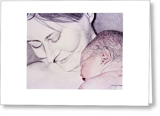 Daughter Gift Greeting Cards - 30 Seconds Old Greeting Card by Susan Singer