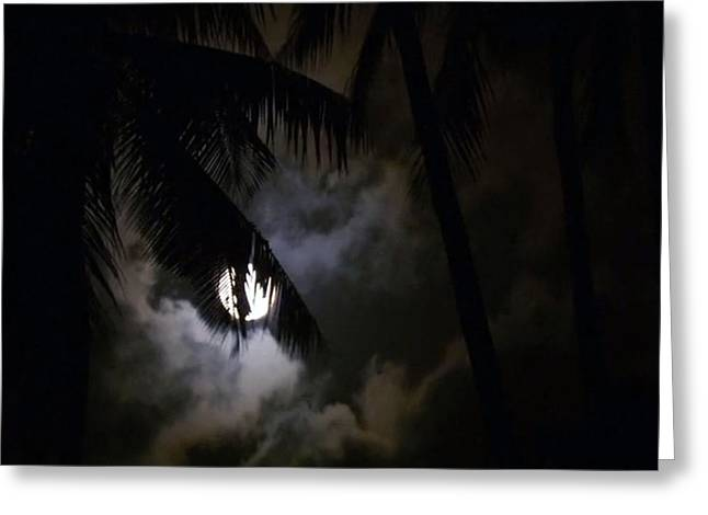 Moonrise Greeting Cards - 4 Strange Ways the Moon Might Affect Our Bodies read at news dot health dot com Greeting Card by Navin Joshi