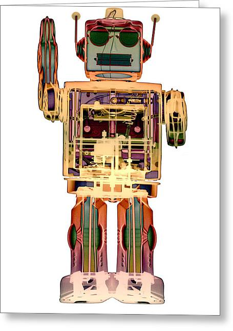 Recently Sold -  - ist Photographs Greeting Cards - 4N0D3 X-ray Robot Art Greeting Card by Roy Livingston