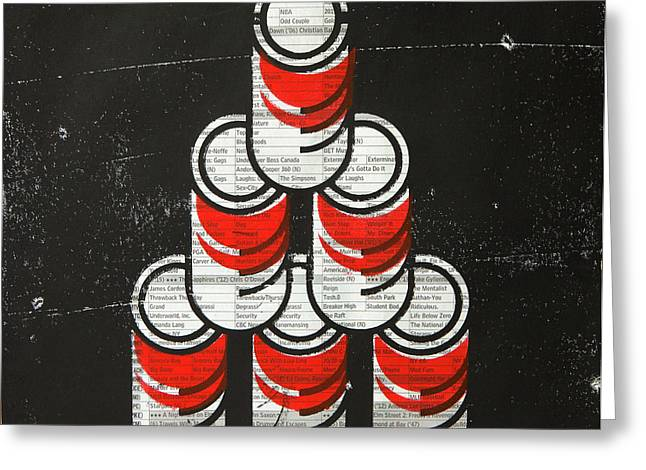 6 Soup Cans  Greeting Card by Igor Kislev