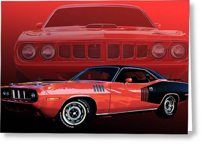 Cuda Greeting Cards - 71 Cuda Greeting Card by Jim  Hatch