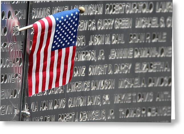 September 11th Attacks Greeting Cards - 9 11 Memorial Rocky Point New York Greeting Card by Bob Savage