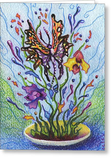 Apology Greeting Cards - A Flower For  Not Washing the Back of the Plates Greeting Card by Kd Neeley