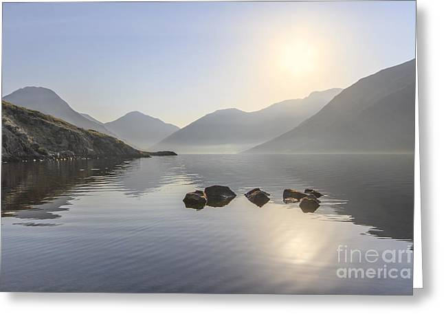 Haze Photographs Greeting Cards - A Place Called Morning Greeting Card by Evelina Kremsdorf