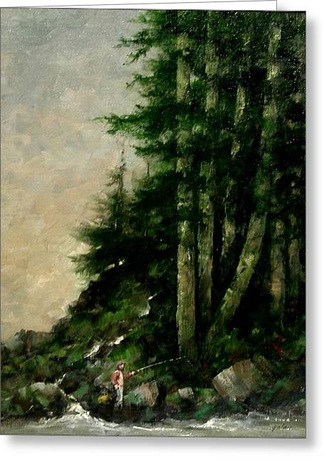 A Quiet Place Greeting Card by Jim Gola
