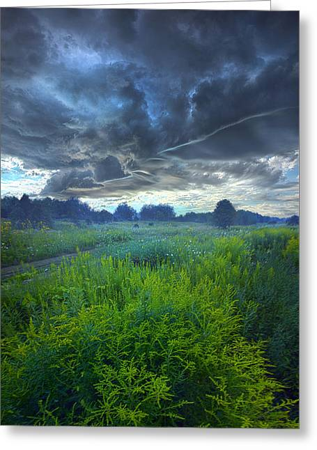 Summer Storm Greeting Cards - A Quiet Reckoning Greeting Card by Phil Koch