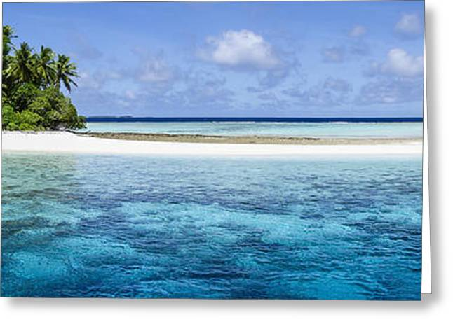 Peaceful Scenery Greeting Cards - A Remote Atoll Of The Marshall Islands Greeting Card by David Kirkland