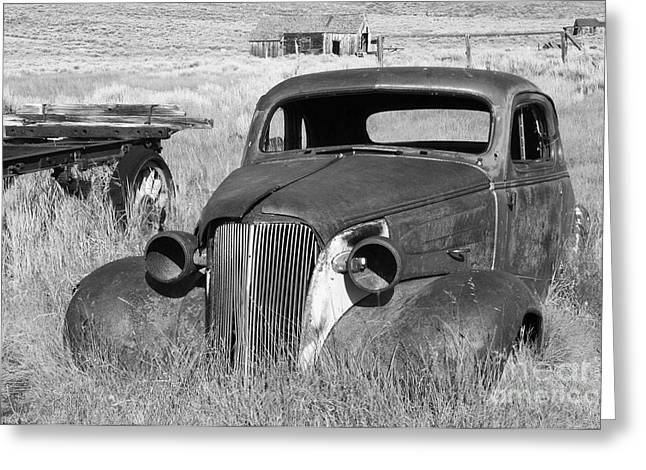Rusted Cars Greeting Cards - A Ride To The Past Greeting Card by Sandra Bronstein
