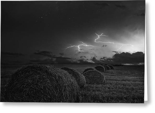 Storm Cloud On The Horizon Greeting Cards - A Storm This Way Comes Greeting Card by Brin Weins