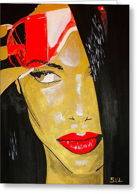 Rnb Greeting Cards - Aaliyah Greeting Card by Estelle BRETON-MAYA