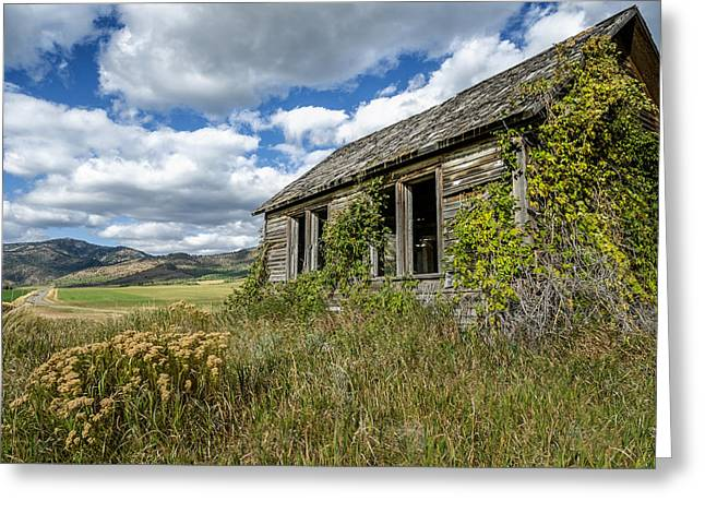 Abandoned School House. Greeting Cards - Abandoned Greeting Card by Beth Anthony