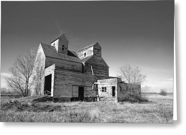 Abandoned Grain Elevator Greeting Card by Donald  Erickson
