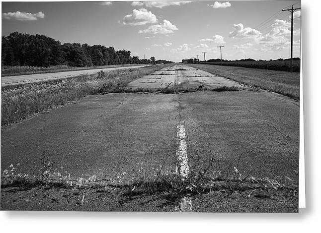 Small Town Prints Greeting Cards - Abandoned Route 66 Greeting Card by Frank Romeo