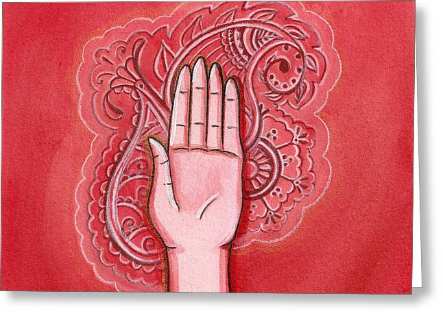 Abhaya Greeting Cards - Abhaya Mudra Greeting Card by Sabina Espinet