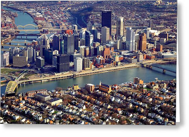 Above Pittsburgh Greeting Card by Emmanuel Panagiotakis