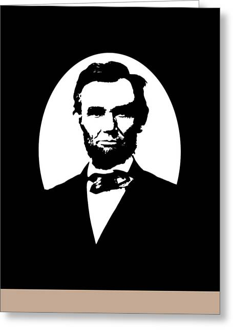 Civil Greeting Cards - Abraham Lincoln Greeting Card by War Is Hell Store