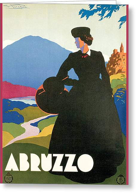 Landscape Posters Greeting Cards - Abruzzo Greeting Card by Giulio Ferrari