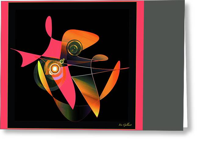 Bule Greeting Cards - Abstract 400 Greeting Card by Iris Gelbart