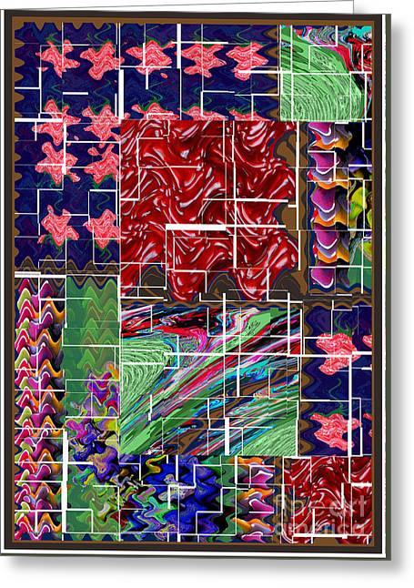 Fruit Tree Art Greeting Cards - Abstract art  Holy Grail Fruitopedia Please check out more signature graphics from Navin Joshi Greeting Card by Navin Joshi