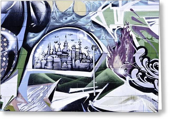 Slam Greeting Cards - Abstract graffiti Greeting Card by Yurix