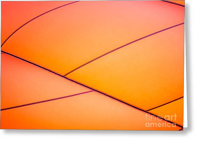 Balloon Greeting Cards - Abstract Orange Greeting Card by Caffrey Fielding