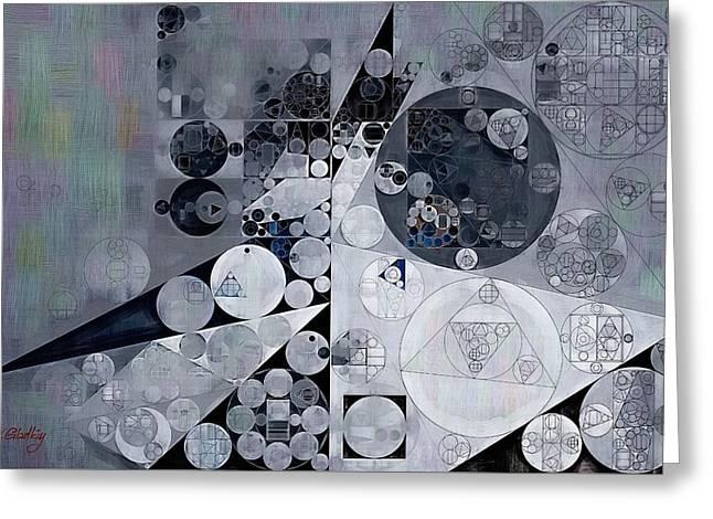 Abstract Painting - Black Pearl Greeting Card by Vitaliy Gladkiy