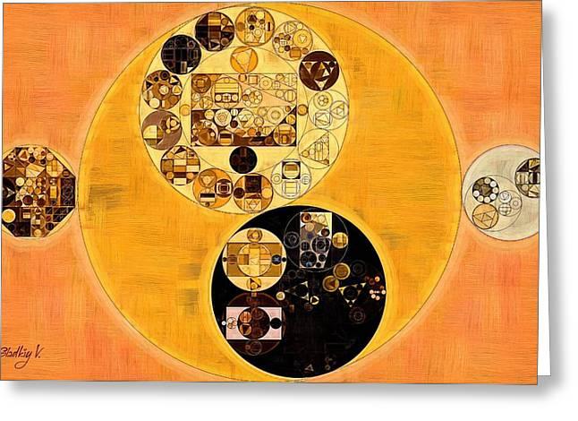 Abstract Painting - Carrot Orange Greeting Card by Vitaliy Gladkiy