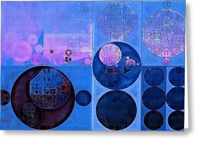 Abstract Painting - Han Blue Greeting Card by Vitaliy Gladkiy