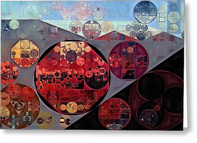 Abstract Painting - Seller Pomegranate Greeting Card by Vitaliy Gladkiy