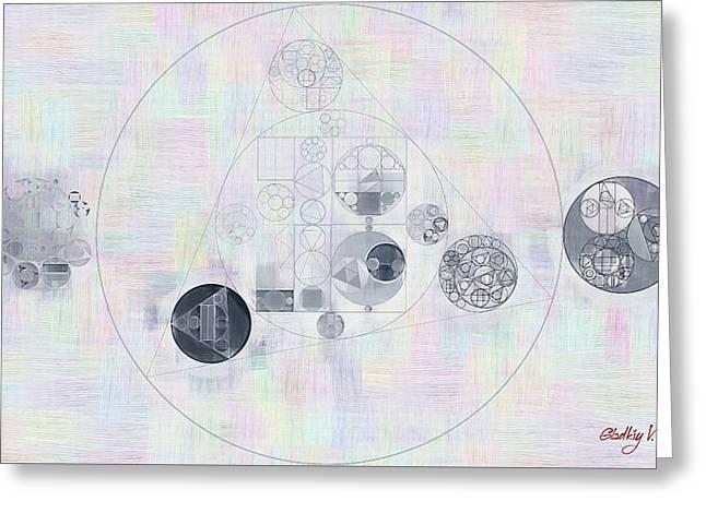 Abstract Painting - Lavender Gray Greeting Card by Vitaliy Gladkiy