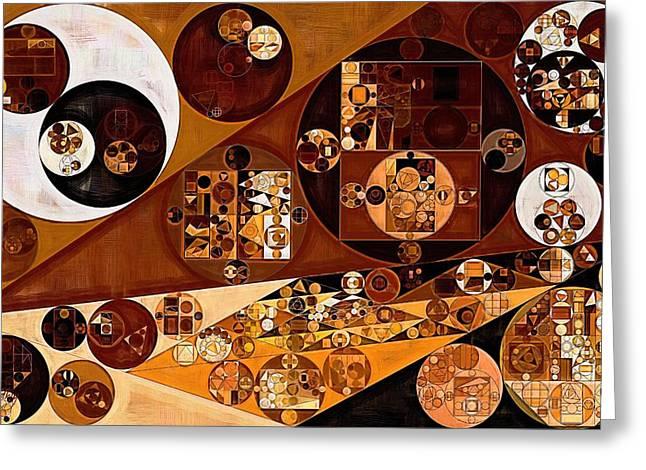 Abstract Painting - Light Brown Greeting Card by Vitaliy Gladkiy
