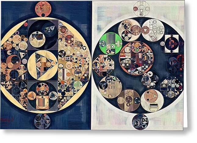 Abstract Painting - Midnight Express Greeting Card by Vitaliy Gladkiy