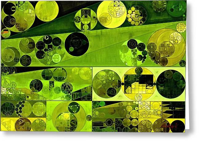 Abstract Painting - Olive Drab Greeting Card by Vitaliy Gladkiy
