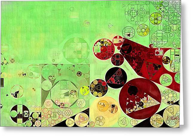 Abstract Painting - Reef Greeting Card by Vitaliy Gladkiy