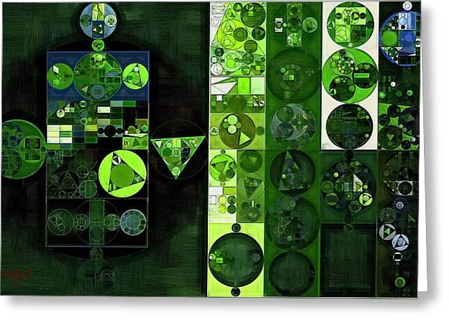 Abstract Painting - Sap Green Greeting Card by Vitaliy Gladkiy