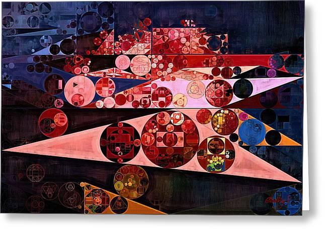 Abstract Painting - Eruption Greeting Card by Vitaliy Gladkiy