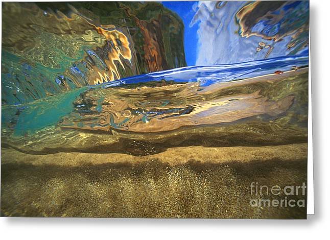 Vince Greeting Cards - Abstract Underwater View Greeting Card by Vince Cavataio - Printscapes