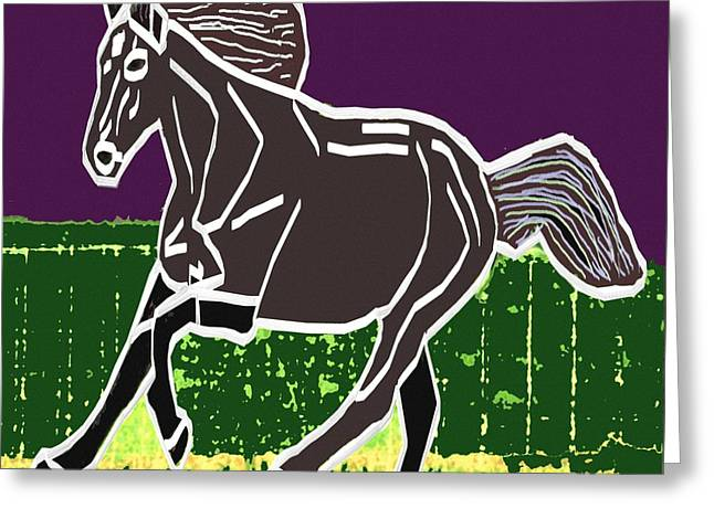 Christmas Greeting Greeting Cards - Acrylic painted horse on display fineart by NavinJoshi at FineArtAmerica.com for the fans of horses Greeting Card by Navin Joshi