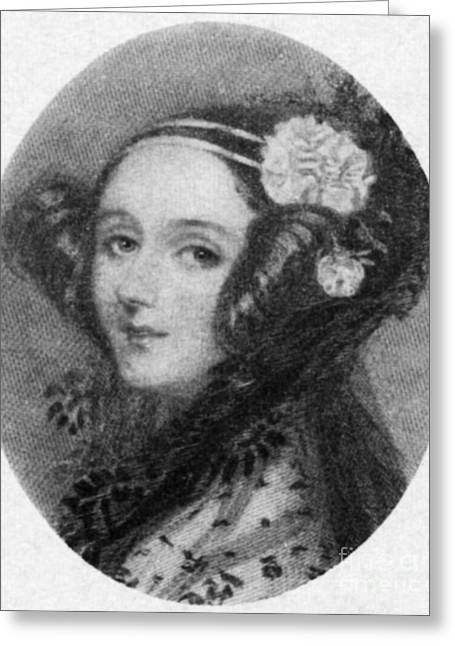 Countess Greeting Cards - Ada Lovelace Greeting Card by Science Source