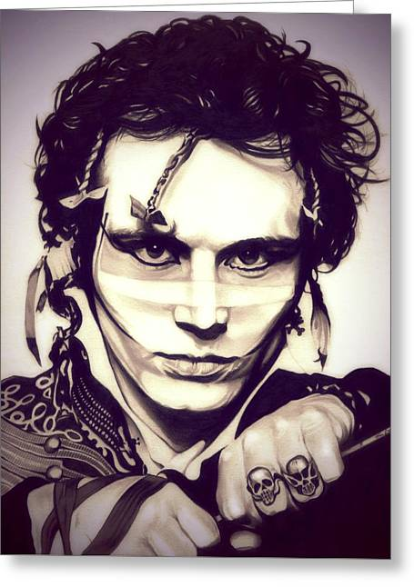 Adam Drawings Greeting Cards - Adam Ant Greeting Card by Fred Larucci