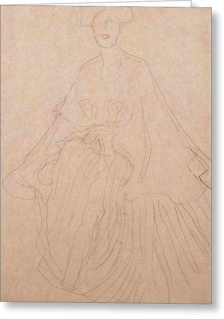 Loose Drawings Greeting Cards - Adele Bloch Bauer Greeting Card by Gustav Klimt