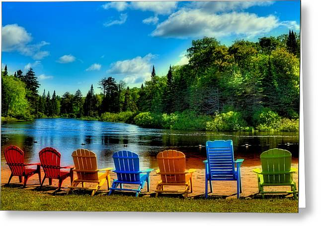 Rv Greeting Cards - Adirondack Calm Greeting Card by David Patterson