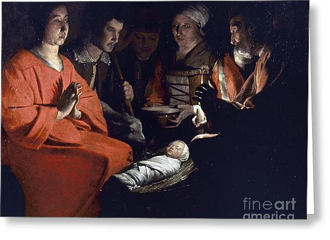 Saint Joseph Greeting Cards - Adoration Of Shepherds Greeting Card by Granger