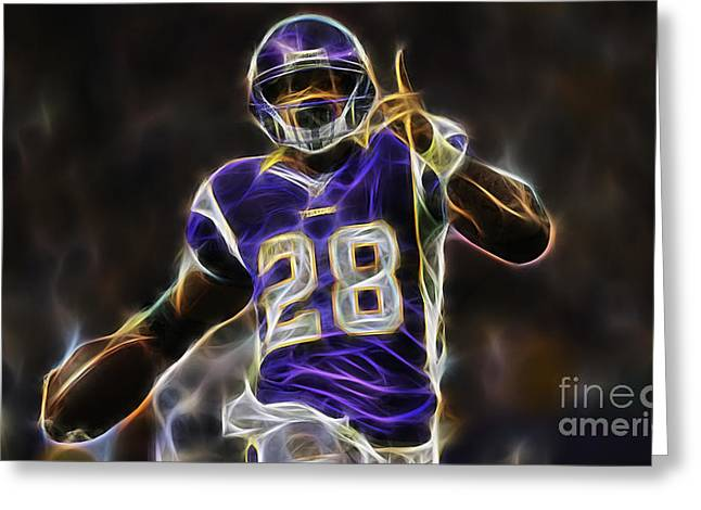 Sport Greeting Cards - Adrain Peterson Collection Greeting Card by Marvin Blaine