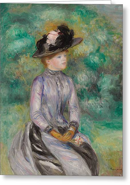 Renoir Greeting Cards - Adrienne Greeting Card by Pierre Auguste Renoir