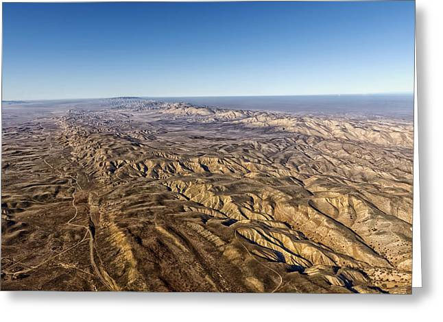 Madre Greeting Cards - Aerial View Of The San Andreas Fault Greeting Card by Mountain Dreams