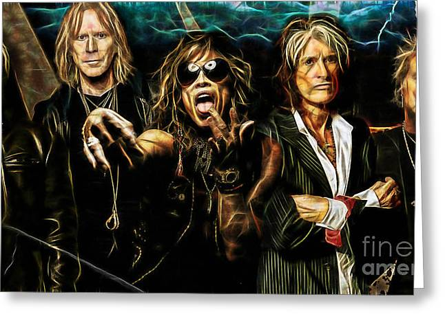 Rock Greeting Cards - Aerosmith Collection Greeting Card by Marvin Blaine