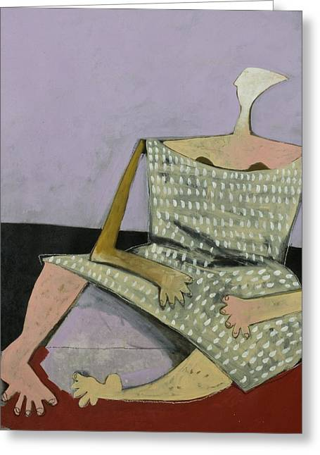 Cubist Mixed Media Greeting Cards - AETAS No. 17 Greeting Card by Mark M  Mellon