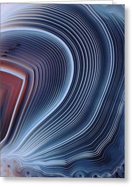 Precious Stone Greeting Cards - Agate Surface Greeting Card by Dirk Wiersma
