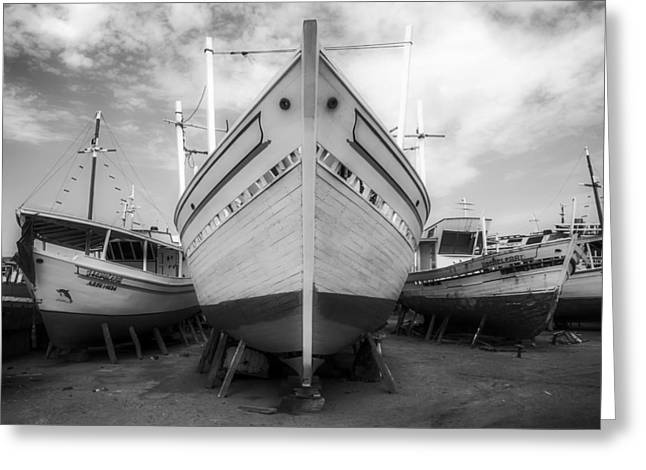 White Photographs Greeting Cards - Aground On Margarita Island Greeting Card by The Photographer